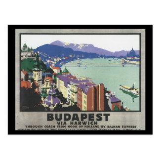 Postal Budapest vía el poster del viaje de