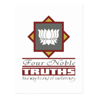 Postal Buddhism cuatro verdades nobles
