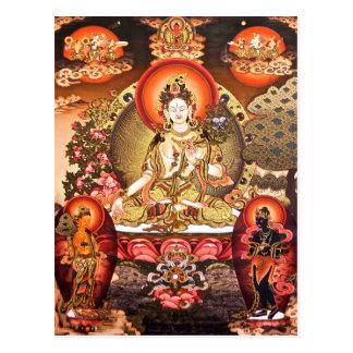 Postal budista tibetana del arte