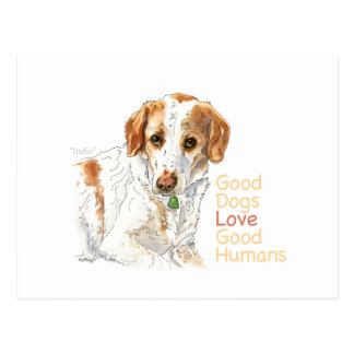 Postal Buena acuarela de los seres humanos del buen amor