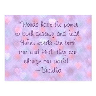 Postal buena de la cita de las palabras de Buda