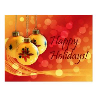 Postal Buenas fiestas ornamentos del navidad