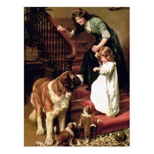 Postal:  Buenas noches - con St Bernard