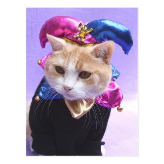 Postal Bufón del gatito