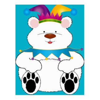 Postal Bufón del oso polar