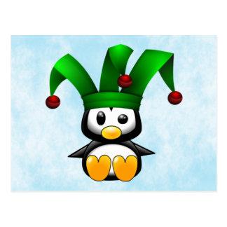 Postal Bufón del pingüino