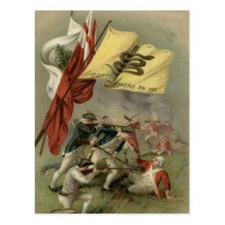 Postal Bunker Hill revolucionario de la guerra de la