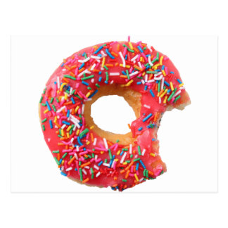 Postal Buñuelo del postre de los dulces de los anillos de