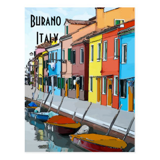 Postal Burano, Italia, corrige el texto