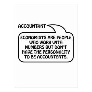Postal Burbuja de la cita del contable