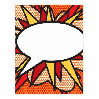 Postal Burbuja personalizada del discurso del arte pop