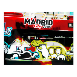 Postal Bus turístico de Madrid (España)