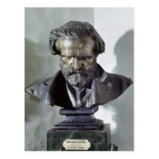 Postal Busto de Giuseppe Verdi