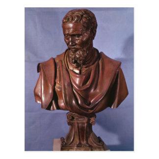 Postal Busto de Miguel Ángel Buonarroti