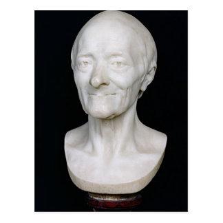 Postal Busto de Voltaire sin su peluca, 1778