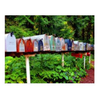 Postal Buzones múltiples en una fila