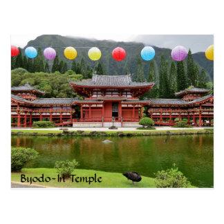 Postal Byodo-En el templo budista Hawaii