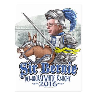 Postal Caballero blanco de sir Bernie Demócrata
