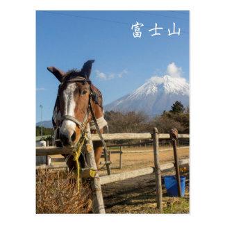 Postal Caballo de Fujisan