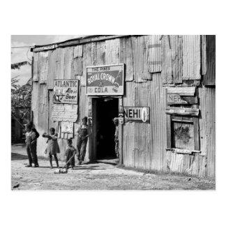 Postal Cabaña de la soda, los años 40