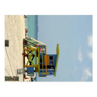 Postal Cabaña del salvavidas de Miami Beach