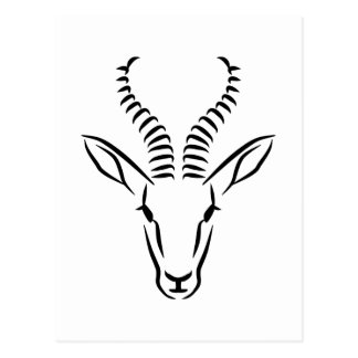 Postal Cabeza de la gacela