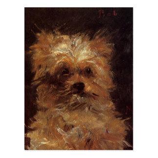 Postal Cabeza de un perro de Eduardo Manet