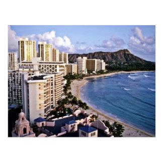 Postal Cabeza del diamante - playa de Waikiki, Oahu