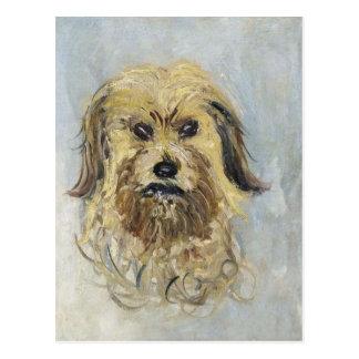 Postal Cabeza del perro de Claude Monet