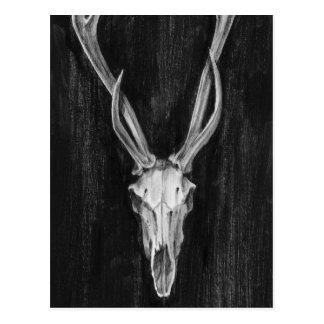 Postal Cabeza rústica del animal de los ciervos