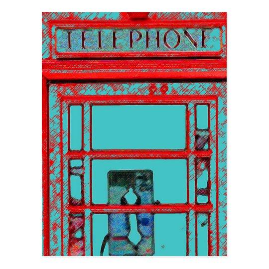 Postal Cabina de teléfono británica del estilo