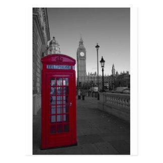 Postal Cabina de teléfonos roja de Londres
