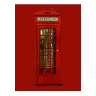 Postal Cabina de teléfonos roja del vintage