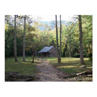 Postal Cabina en las montañas ahumadas, Tennessee