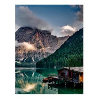 Postal Cabina italiana de la montaña de la orilla del