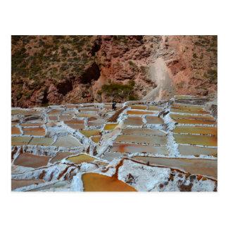 Postal Cacerolas de la sal de Maras, Perú