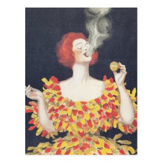 Postal Cachou Lajaunie del poster del vintage