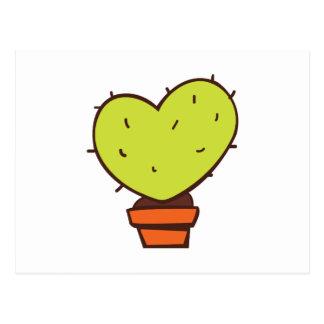 Postal Cactus del corazón