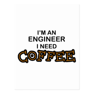 Postal Café de la necesidad - ingeniero