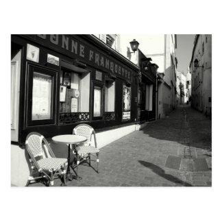 Postal Café en Montmarte