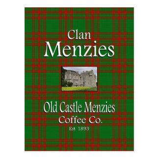 Postal Café viejo Co. de Menzies del castillo de Menzies