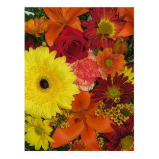 Postal Caída floral
