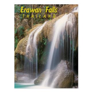 Postal Caídas de Erawan, Tailandia