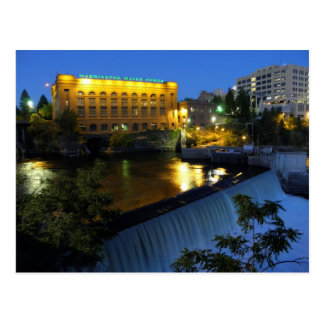 Postal Caídas de Spokane y un poder de agua más bajos de