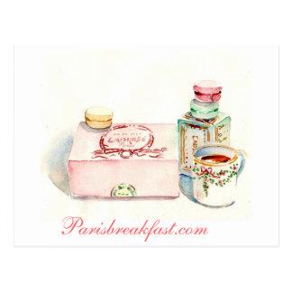 Postal Caja de París Macaron por el villancico Gillott