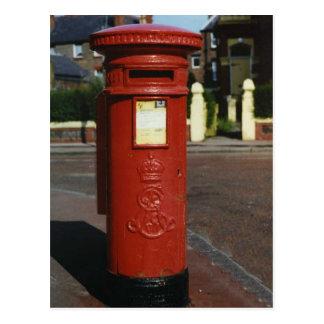 Postal Caja de pilar británica de Edward VII