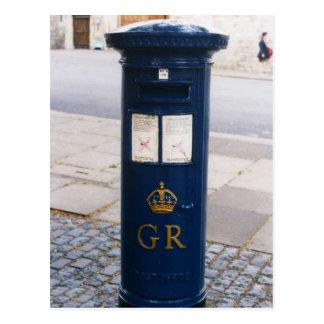 Postal Caja de pilar británica del correo aéreo
