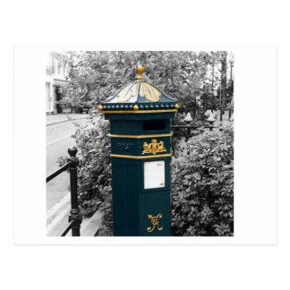 Postal Caja de pilar británica del Victorian - 1866