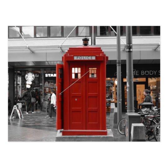 Postal Caja de policía roja del vintage, Glasgow, Escocia