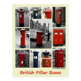 Postal Cajas de pilar británicas
